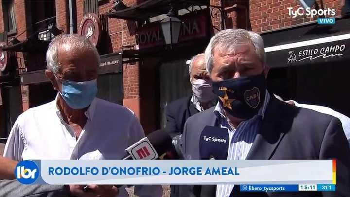 Ameal y D'Onofrio se reunieron para hablar de una campaña contra el coronavirus