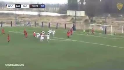 Golazo de tiro libre de Sebastián Melgar ante San Lorenzo