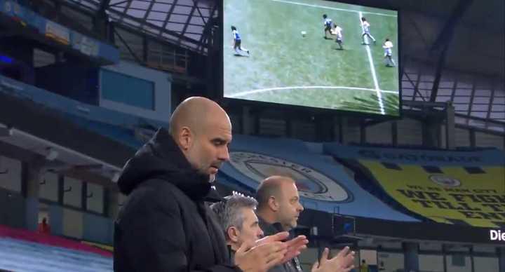 Con el gol de Maradona a los ingleses, el Manchester City recordó a Maradona