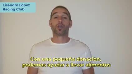 La campaña solidaria del fútbol argentino.