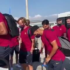 El viaje del Barsa a Lisboa