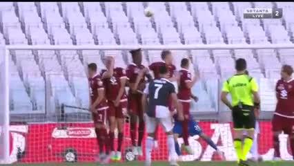 Ronaldo marcó el 3 a 1 de la Juve
