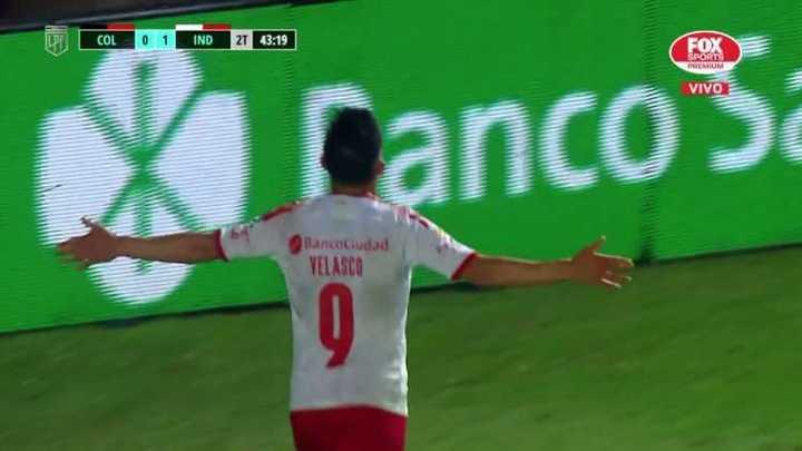 Tremenda corrida de Velasco para el segundo de Independiente