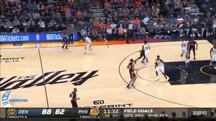 """El partido de Campazzo vs. Suns, con un pase """"no look"""""""
