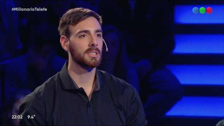 Germán Johansen de la selección de Voley estuvo en Quién quiere ser millonario