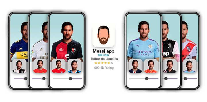 Mirá cómo seria Messi con distintas camisetas