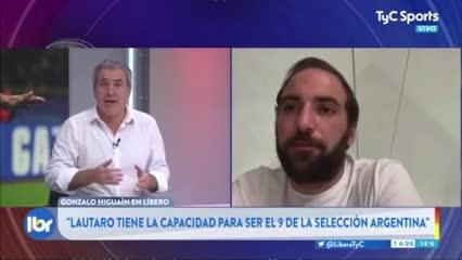 Higuaín habló de Lautaro Martínez