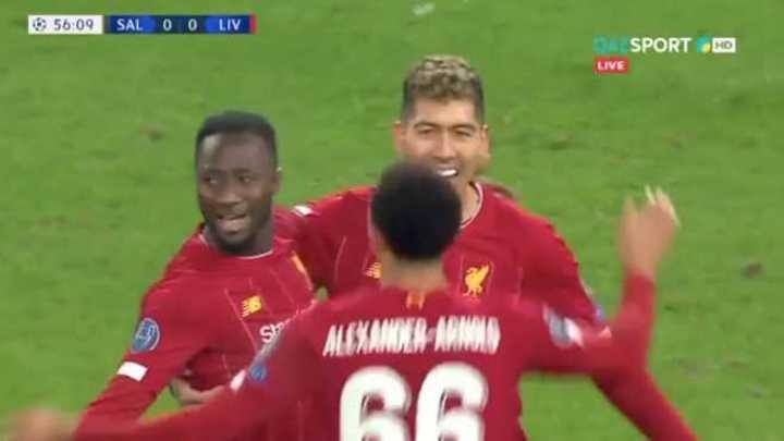 Mirá los goles de Salzburgo 0 - Liverpool 2