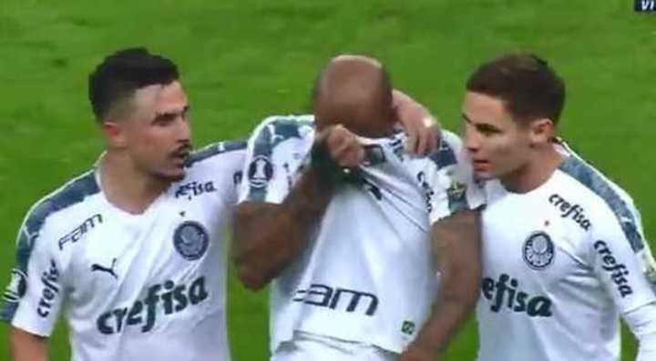 La expulsión y las lágrimas de Felipe Melo