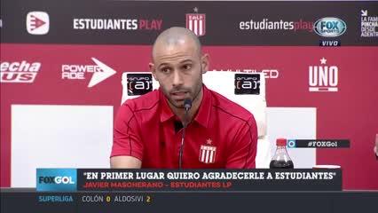 La presentación de Mascherano en Estudiantes