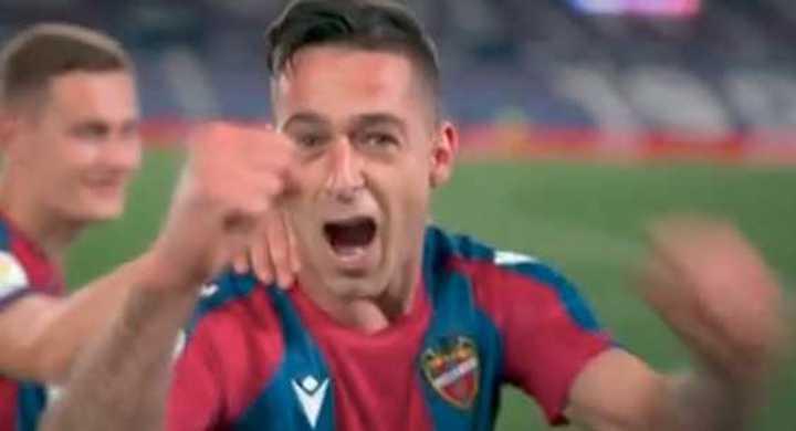 Los goles del 3 a 3 entre Levante y Barcelona