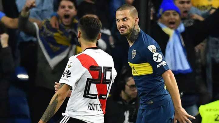 Benedetto aclaró el gesto hacia Montiel en el superclásico por la Libertadores