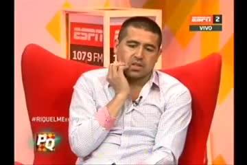 Juan Román Riquelme hablando de sus hijos