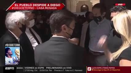 Marcelo Gallardo se hizo presente en la despedida a Maradona