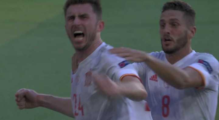 España puso el 2 a 0 al cierre del primer tiempo