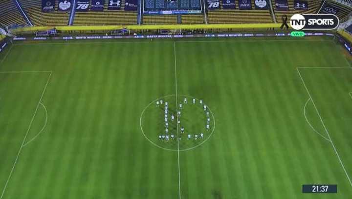 El homenaje a Diego en Rosario