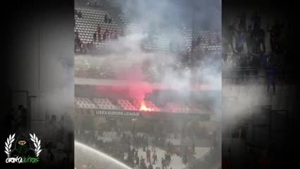 Incidentes en el partido de Olympique de Marsella ante Galatasaray