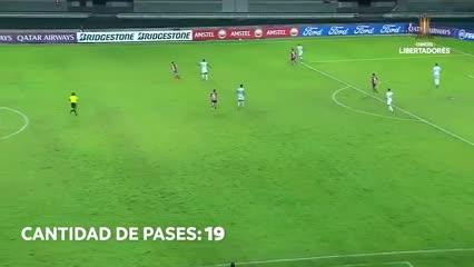 El tremendo golazo de Atlético Nacional
