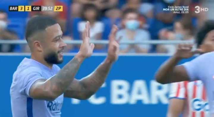 El gol de Depay para Barcelona