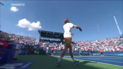 El match point de Rublev contra Federer