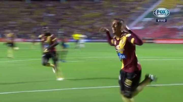 Castro marcó el 1 a 0 para Deportes Tolima
