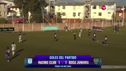 Boca rescató un empate agónico frente a Racing
