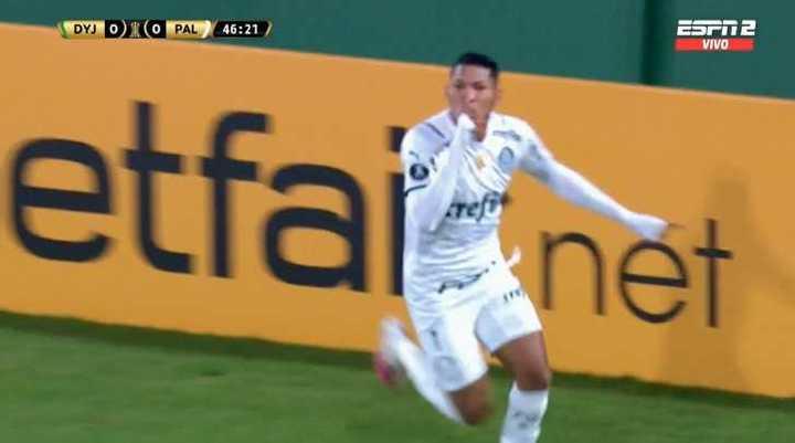 Rony marcó el 1 a 0 de Palmeiras