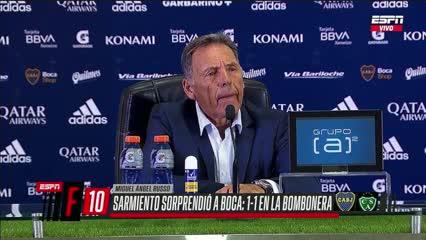 La conferencia de Russo tras el empate ante Sarmiento