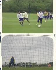 El gol de Buffarini en la práctica de Boca