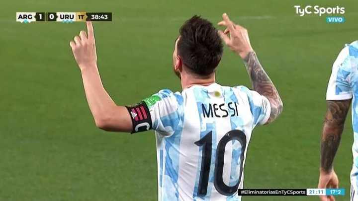Messi marcó el primero de Argentina