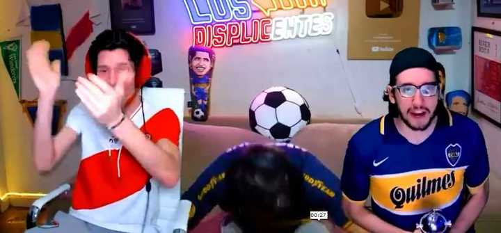 La reacción de Los Displicentes con Inter-Boca