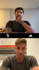 Recuerdo de Alario y Pisculichi por la Copa 2015 con River
