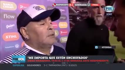 La palabra de Diego cuando finalizó el partido