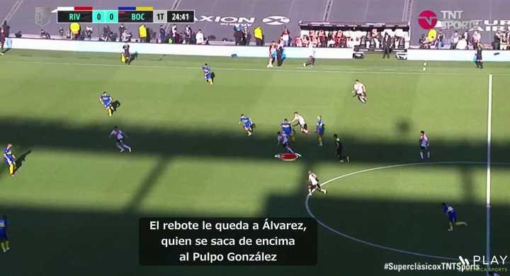 El videoanálisis del primer gol de River a Boca