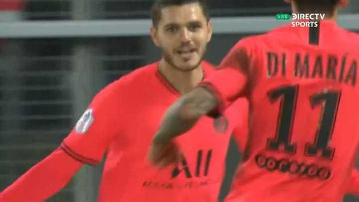 Icardi marcó el 4 a 3 del PSG