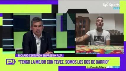 Centurión niega problemas con Tevez