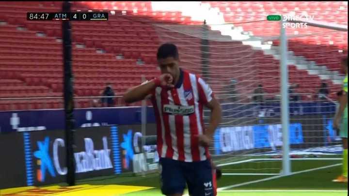 El gol de Luis Suárez en su debut con el Atlético de Madrid