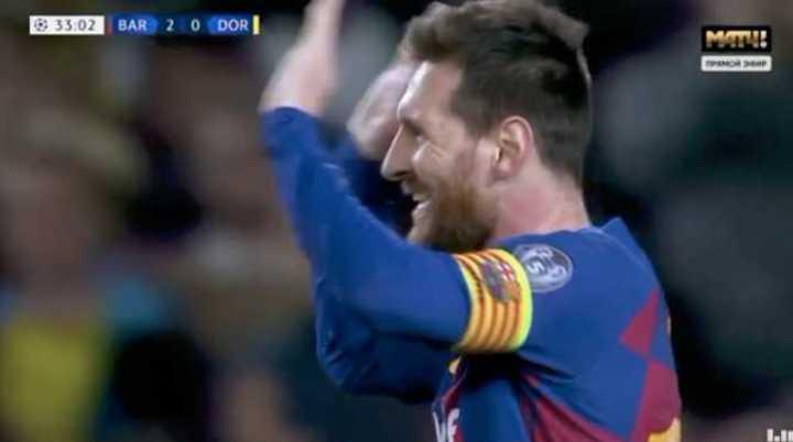 Messi marcó el segundo del Barcelona