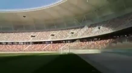 El relato del gol del Pity Martínez en la prueba de audio del Estadio de Santiago del Estero.