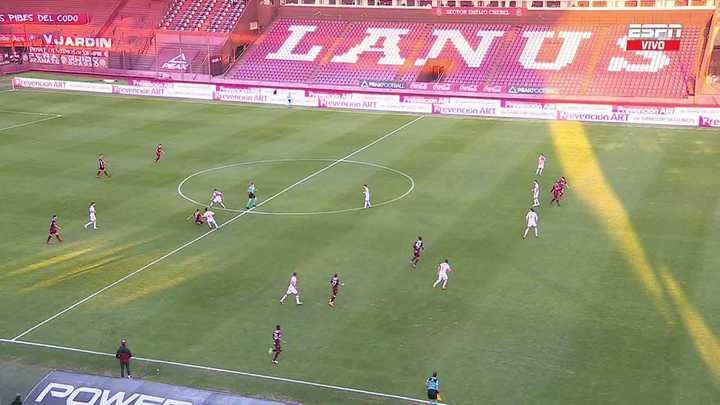 El gol anulado a Lanús