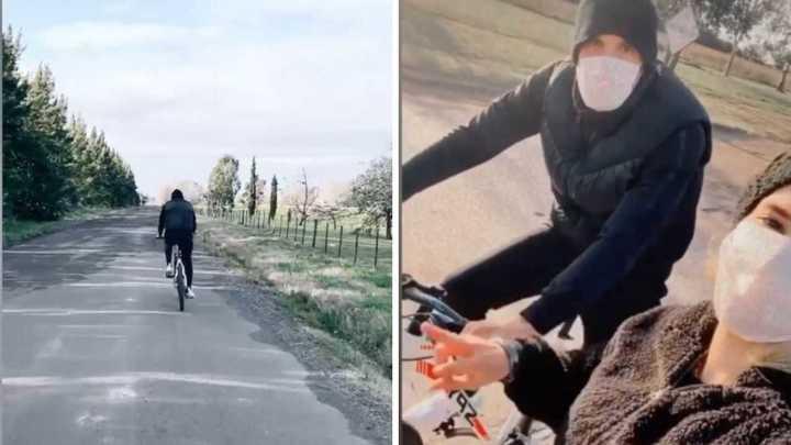 Franco Armani y su rutina en bicicleta