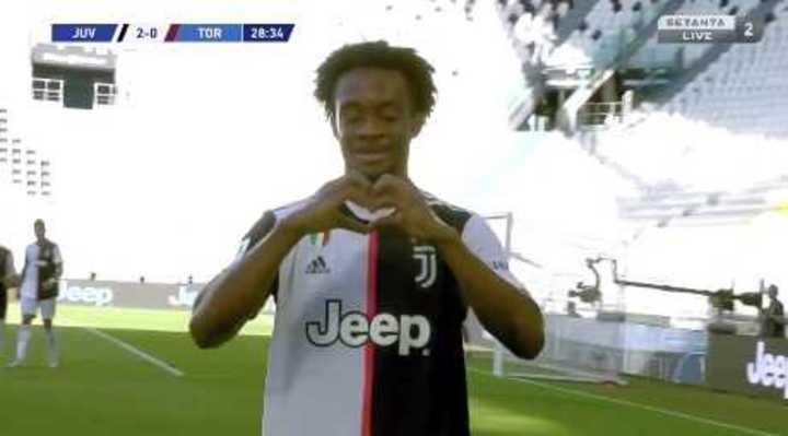 Cuadrado marcó el 2 a 0 de Juventus