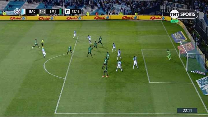Gol anulado a la Academia por offside