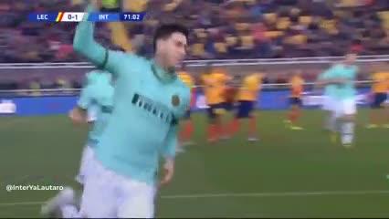 Alessandro Bastoni metió el primero de Inter ante Lecce