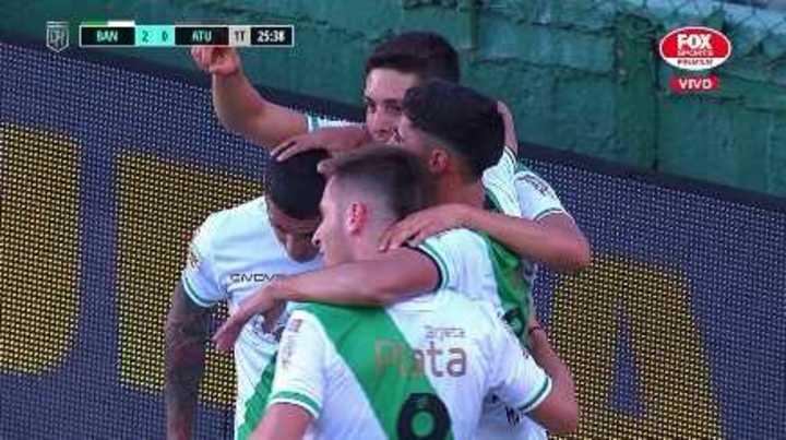 Juan Manuel Cruz marcó el 2 a 0 del Taladro