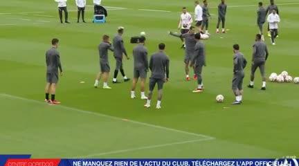 Messi se entrenó a la par del grupo