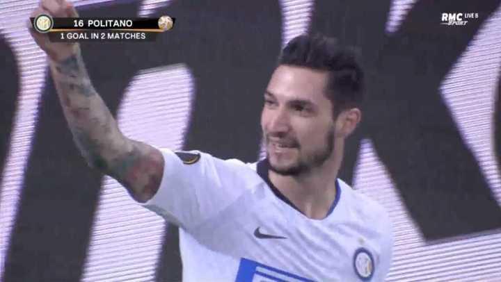 Politano marcó el 4 a 0 final para el Inter
