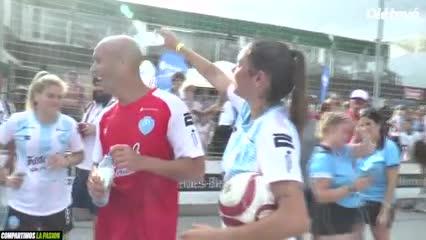 Fútbol sin violencia, la movida del Banco Ciudad