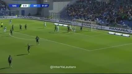 Lautaro Martínez madrugó al Sassuolo