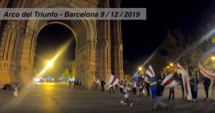 En Barcelona recrearon el gol del Pity a Boca